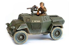 Warload-Games WWII Humber British Scout Car & Brigadier Joe Vandeleur Resin Model Tank Kit 1/56 #bi138