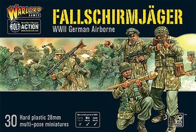 Warload-Games 28mm Bolt Action- WWII German Airborne Fallschirmjager (30) (Plastic)