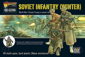 Warload-Games 28mm Bolt Action- WWII Soviet Winter Infantry (40) (Plastic)