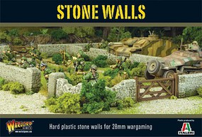 Warload-Games Stone Walls (54'' Modular Sections) Plastic Model Military Diorama 1/56 Scale #ter38