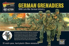Warload-Games 28mm Bolt Action- WWII Late War German Grenadiers (30) (Plastic)