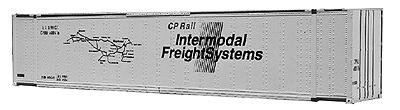 Walthers 48' Stoughton Smoothside Container CP/US Service -- HO Scale Model Train Freight Car Load -- #1801