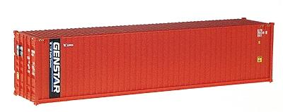 Walthers 40' Hi-Cube Fully Corrugated Container - Assembled -- Genstar (orange, blue, white) - HO-Scale