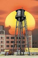 Walthers City Water Tower - Built-ups - Assembled - Black HO Scale Model Railroad Buidling #2825