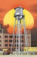 Walthers City Water Tower - Built-ups - Assembled - Silver HO Scale Model Railroad Buidling #2826