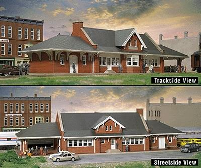 Walthers City Station - Kit - 17-5/8 x 5-7/8 x 4-3/8 HO Scale Model Railroad Building #2904