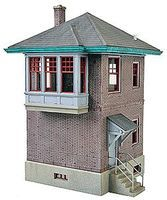 Walthers PRR Block & Interlocking Station - Plastic Kit HO Scale Model Railroad Building #2982