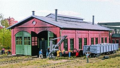 Walthers 2-Stall Enginehouse HO Scale Model Railroad Building #3007
