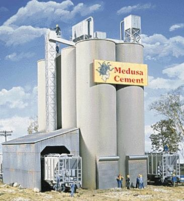 Walthers Medusa Cement Company - Kit - 9 x 7 x x 11 HO Scale Model Railroad Building #3019