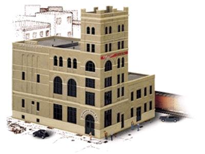 Walthers Milwaukee Beer & Ale Brewery - Kit HO Scale Model Railroad Building #3024