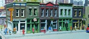 Walthers Merchants Row I - Kit - 11 x 5 x 4 HO Scale Model Railroad Building #3028