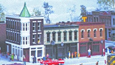 Walthers Merchant's Row II -- Kit - 10 x 5'' 4 x 12.5cm - HO-Scale