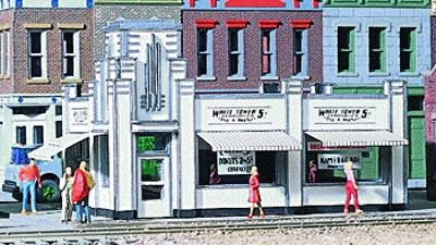 Walthers White Tower Restaurant - Kit - 4-5/8 x 3 x 2-7/8 HO Scale Model Railroad Building #3030