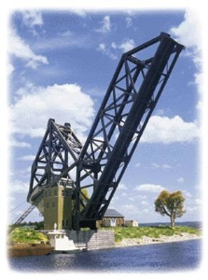Walthers Bascule Bridge HO Scale Model Railroad Building #3070