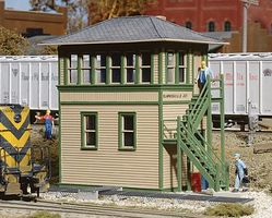 Walthers Interlocking Tower - Kit - Kit - 5 x 1-7/8 x 4 HO Scale Model Railroad Building #3071