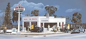 Al's Victory Service Station - Kit - 4 x 6 x 2-1/16'' HO Scale Model Railroad Building #3072