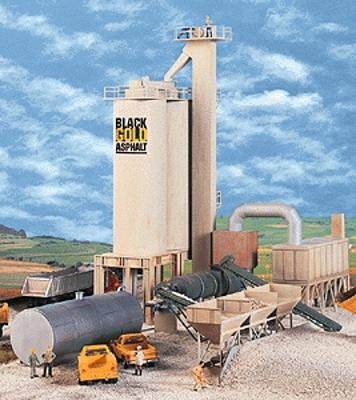 Walthers Black Gold Asphalt Hot Mix Plant - Kit HO Scale Model Railroad Building #3085