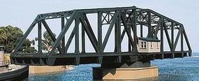 Walthers Double Track Swing Bridge - Kit - 27 x 6-3/8 x 7-9/16 HO Scale Model Railroad Bridge #3088