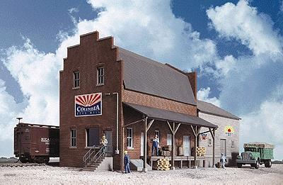 Walthers Columbia Feed Mill - Kit HO Scale Model Railroad Building #3090