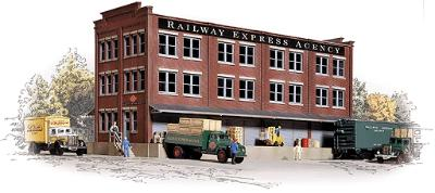 Walthers Railway Express Agency (REA) Transfer Building - Kit HO Scale Model Railroad Building #3095