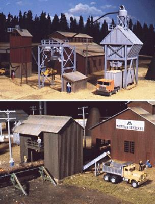 Walthers Sawmill Outbuildings - Kit -- HO Scale Model Railroad Building -- #3144