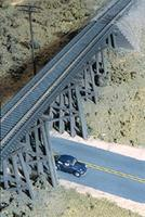 Walthers Trestle w/Deck Girder Bridge Kit 15-1/2 x 4 x 4'' HO Scale Model Railroad Bridge #3147