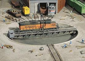 Walthers 90' Turntable Kit HO Scale Model Railroad Operating Accessory #3171