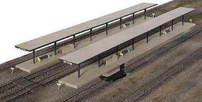 Walthers Butterfly Style Station Platform Shelter pkg(4) - Kit HO Scale Model Railroad Building #3175