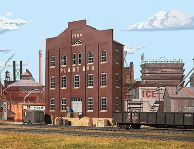 Walthers Plant No. 4 Background Building - Kit HO Scale Model Railroad Building #3183