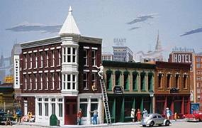 Walthers Merchants Row II - Kit - 6-1/4 x 3-1/2 N Scale Model Railroad Building #3224