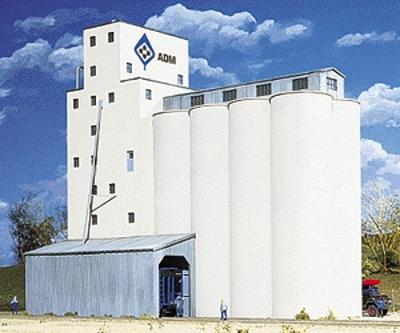 Walthers ADM(R) Grain Elevator - Kit N Scale Model Railroad Building #3225