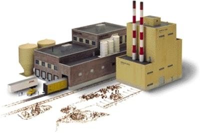 Walthers Superior Paper Company - Kit N Scale Model Railroad Building #3237