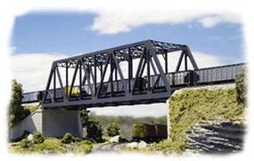 Walthers Double-Track Truss Bridge - Kit - 10 x 2-3/4 x 2-3/4 N Scale Model Railroad Building #3242