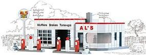 Walthers Als Victory Service - Kit - 3-1/4 x 2-1/4 N Scale Model Railroad Building #3243