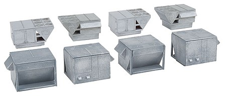 Walthers HVAC Units Kit - 4 each of 2 Styles of Rooftop Air Conditioners - N-Scale