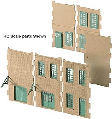 Walthers Cornerstone Modulars(TM) -- Small Walls, Windows & Doors - N-Scale