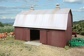 Walthers Meadowhead Barn - Kit 7 x 4-1/2 x 4-5/16 HO Scale Model Railroad Building #3330