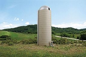 Walthers Concrete-Style Silo - Kit - 1-5/8 x 5-1/2 HO Scale Model Railroad Building #3332