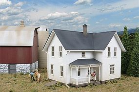 Walthers Lancaster Farmhouse - Lasercut - Kit HO Scale Model Railroad Building #3333