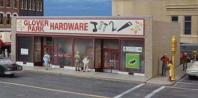 Walthers Glover Park Hardware - Kit - 7-1/8 x 5-1/2 x 2-7/8 HO Scale Model Railroad Building #3465
