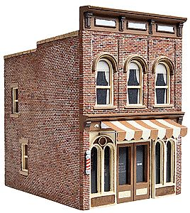 Walthers Vics Barber Shop - Kit - 2-1/2 x 3-1/2 x 3-3/8 HO Scale Model Railroad Building #3471