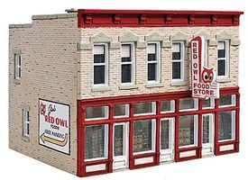 Walthers Jims Red Owl - Kit - 4-1/4 x 3-5/8 x 3-3/8 HO Scale Model Railroad Building #3472