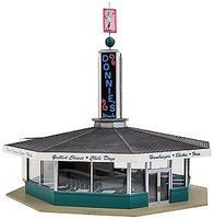 Walthers Donnies Drive-In - Kit - 5-13/16 x 6-11/16 x 5-1/8 HO Scale Model Railroad Building #3474