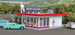 Walthers Vintage Dairy Queen HO Scale Model Railroad Building #3484