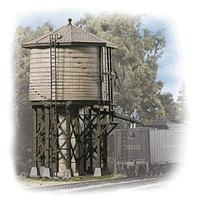 Walthers Wood Water Tank - Kit - 3-1/2 x 3-7/8 x 6-5/8 HO Scale Model Railroad Building #3531