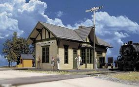 Walthers Golden Valley Depot - Kit - 6-1/2 x 3-3/8 x 4 HO Scale Model Railroad Building #3532