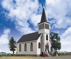 Walthers Cottage Grove Church - Kit - 7 x 3-1/2 x 8 Inch HO Scale Model Railroad Building #3655