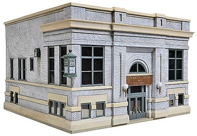 Walthers Liberty Bank & Trust - Kit HO Scale Model Railroad Building #3772