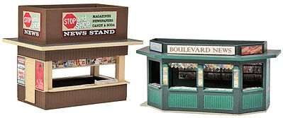 Walthers Newsstands - Kit pkg(2) HO Scale Model Railroad Building Accessory #3773