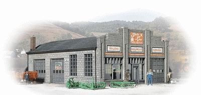 Walthers State Line Farm Supply - Kit- 3-1/4 x 4-1/4 x 1-7/8 N Scale Model Railroad Building #3808